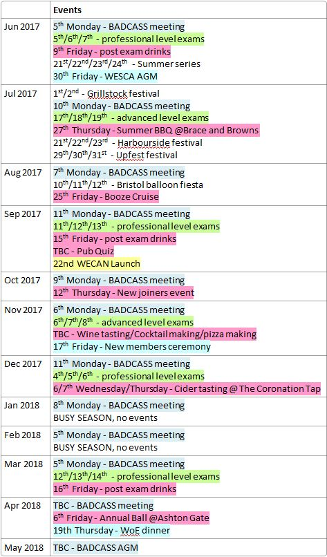 Event Calendar  Badcass  Bristol And District Chartered